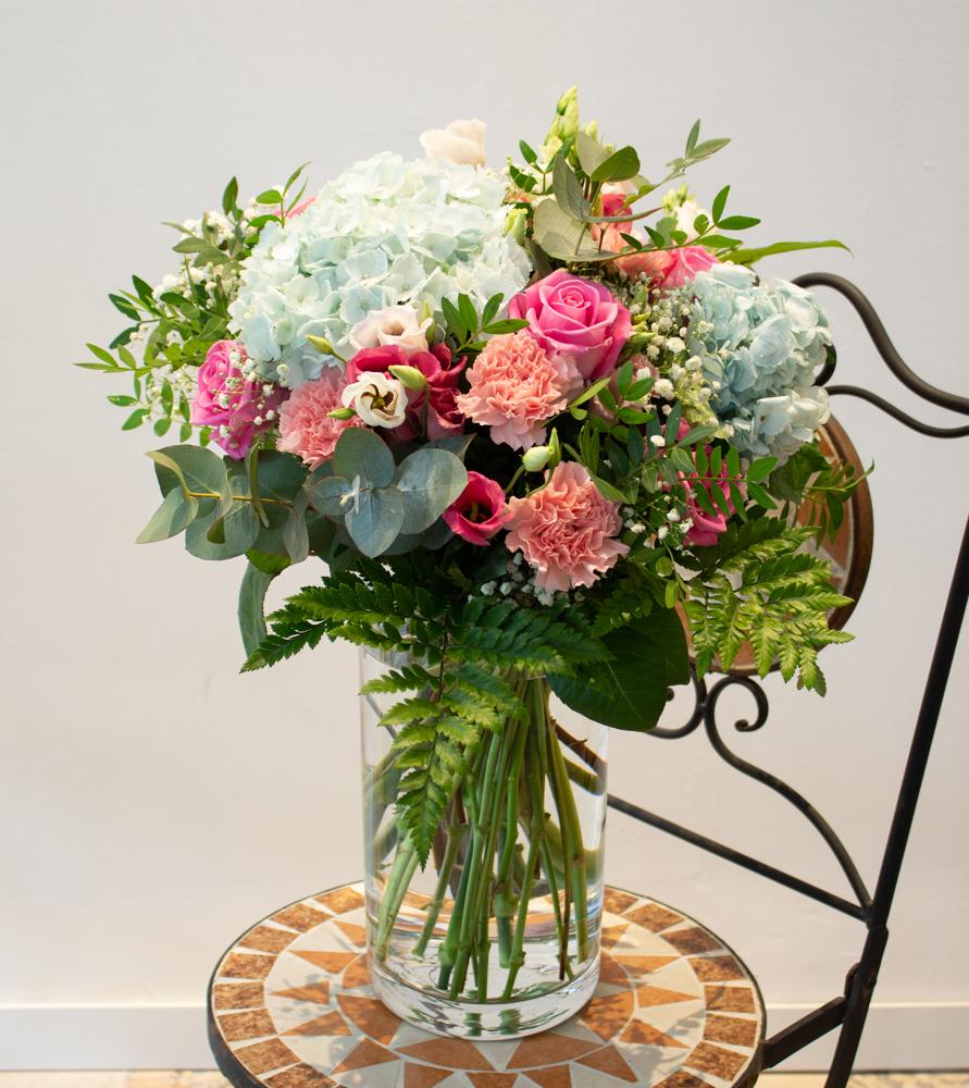 Ramo hortensias y rosas